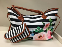 Floral Striped and Tweed Totes