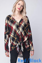Eve Plaid Button Down Top