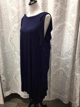 Cayla Cold Shoulder Navy Dress