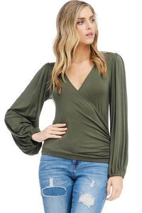 Allie Wrap Blouse
