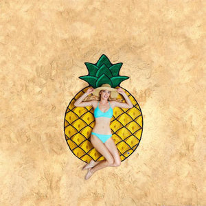 Big Mouth Pineapple Beach Blanket