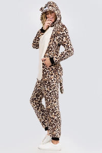 Ladies Leopard Pajamas