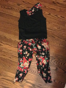 Sassy Pants Floral Set