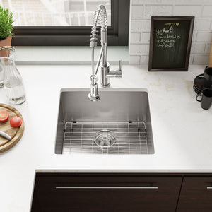 R1 1019 Single Bowl Stainless Steel Utility Sink Kit