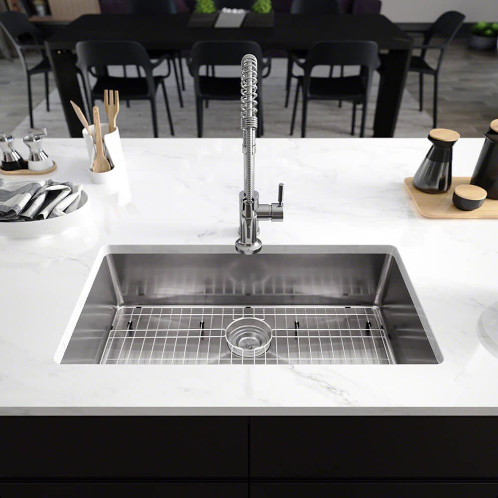 sink kit steel radius stainless lifestyle products single kitchen bowl