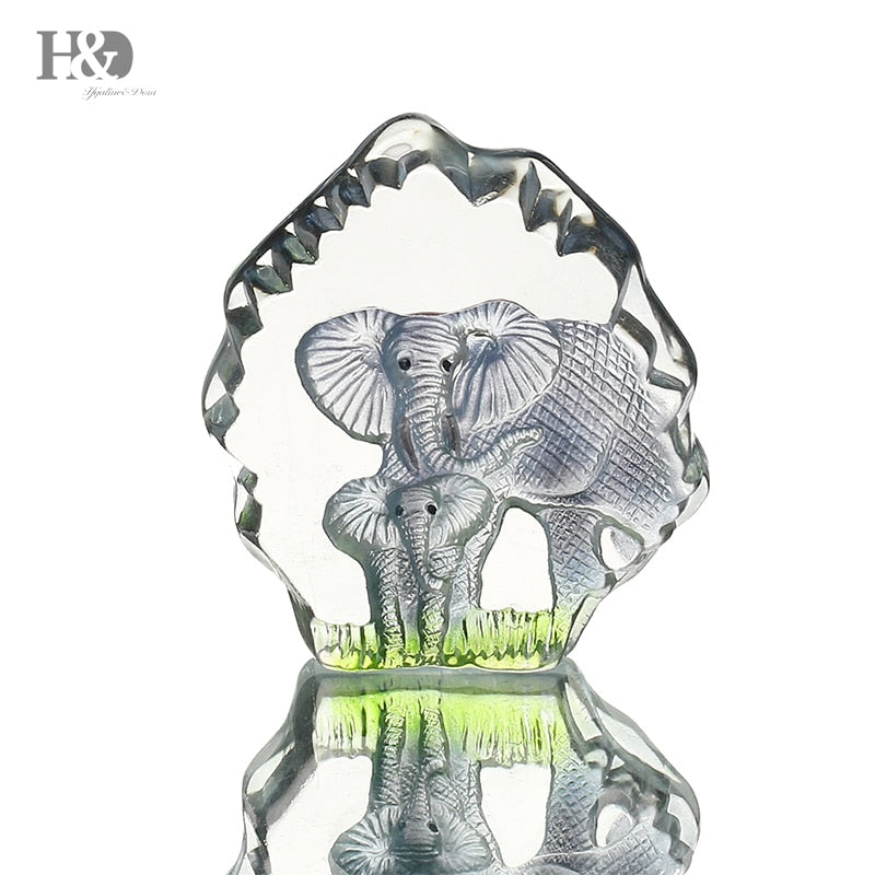 3 4inch Clear Crystal Elephant Figurines Paperweight Papawgear