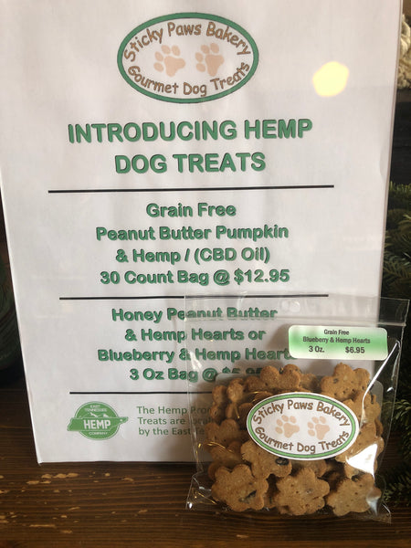 Pet Treats Blueberry and Hemp Hearts