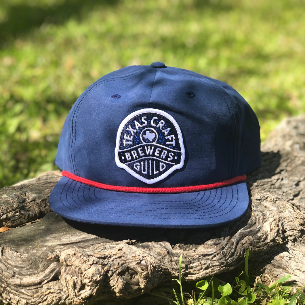 Navy and Red Rope Cap