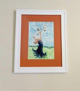 Flutter, Original--Framed and Matted