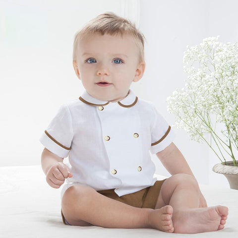2 Piece Baby Collar Shirt & Shorts
