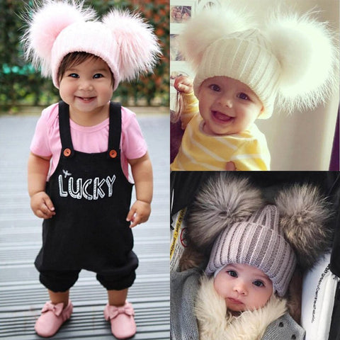 Double Ball Hats for Babies & Toddlers