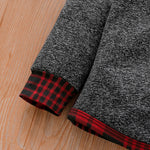 Boys Plaid Winter Joggers and Hoodie