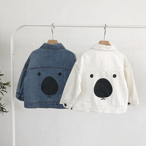 Unisex Bear Denim Jacket