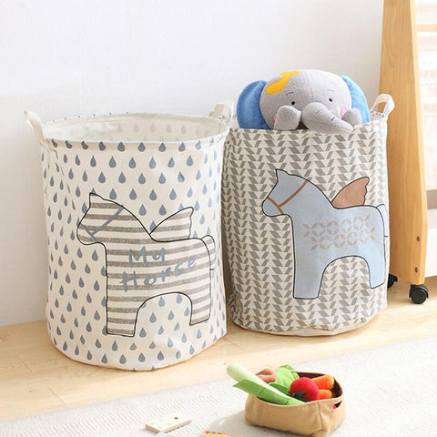 Foldable Canvas Toy Hamper with Handle