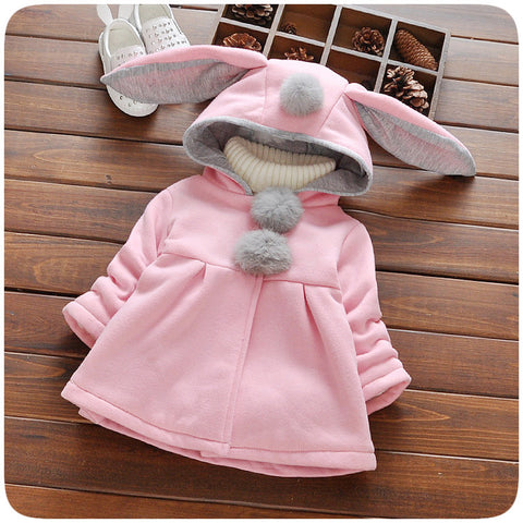 Long Bunny Ear Cotton Jacket