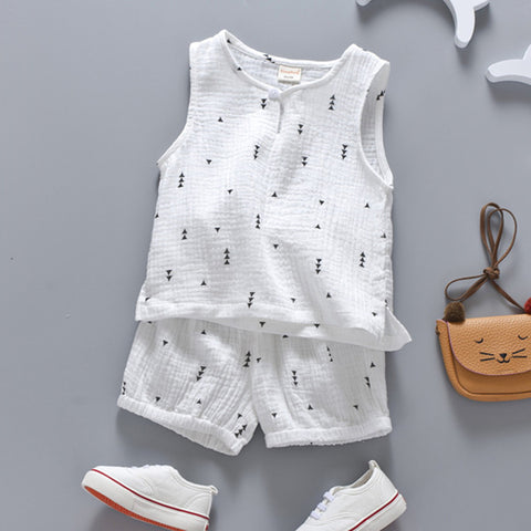 Boys Nautical Sleeveless 2 Piece