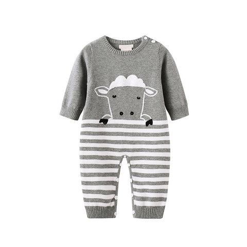 Unisex 'Baby Sheep' Knitted Romper