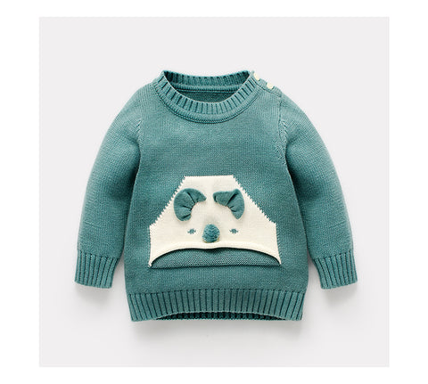 Front Pocket Teddy Embellished Jumper