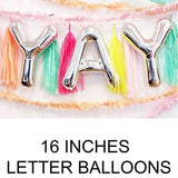 16 inches letter balloons in Dubai