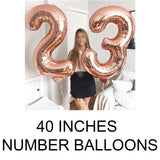40 inches number balloons in Dubai