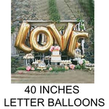 40 inches letter balloons in Dubai