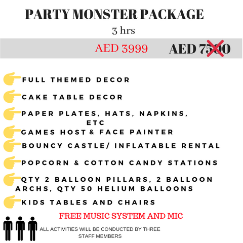 Best Party Pacakages in Dubai for Cheap | Party Monster