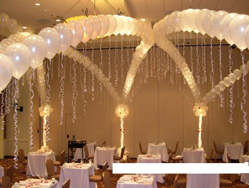 Wedding balloon arrangement