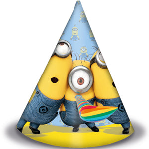 Minion Party Hats 6pcs - PartyMonster.ae