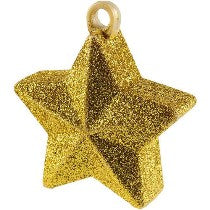 Golden Star Shaped Balloon Weight 6oz - PartyMonster.ae