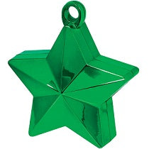 Green Star Shaped Balloon Weight 6oz - PartyMonster.ae