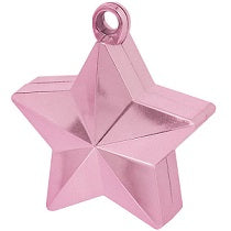 Pink Star Shaped Balloon Weight 6oz - PartyMonster.ae