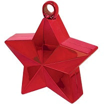 Red Star Shaped Balloon Weight 6oz - PartyMonster.ae
