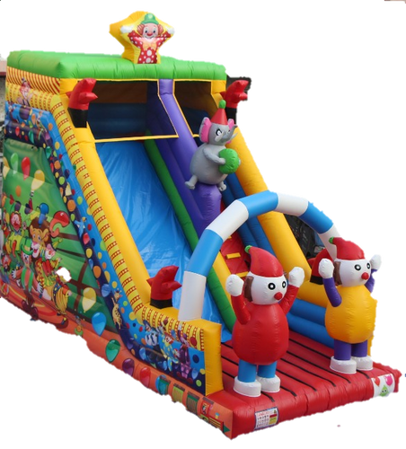 Circus Inflatable Slide - 7.5m - PartyMonster.ae