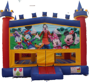 Mickey Club Bouncy Castle - 4.8m - PartyMonster.ae