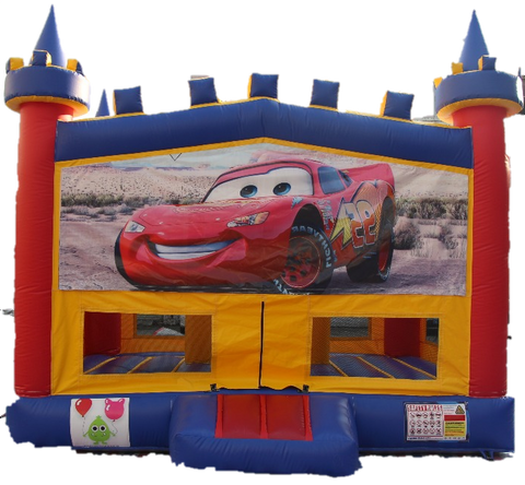 Cars Bouncy Castle - 4.8m - PartyMonster.ae