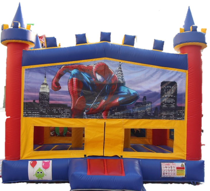 Spiderman Bouncy Castle - 4.8m - PartyMonster.ae