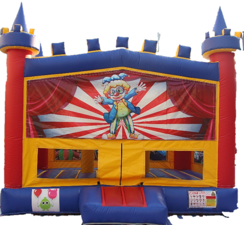 Circus/Clown Bouncy Castle - 4.8m - PartyMonster.ae