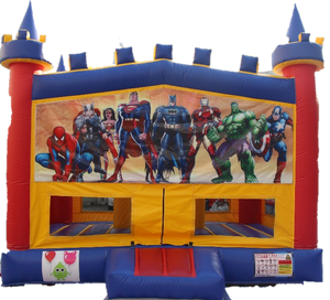 Super Hero  Bouncy Castle - 4.8m - PartyMonster.ae