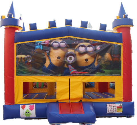 Minion Bouncy Castle - 4.8m - PartyMonster.ae