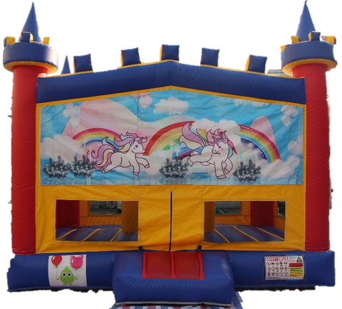 Unicorn Bouncy Castle - 4.8m - PartyMonster.ae
