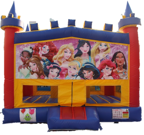 Princesses Bouncy Castle - 4.8m - PartyMonster.ae