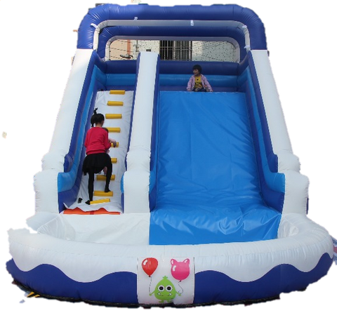 Water/Ball Pool Inflatable Slide - 8m - PartyMonster.ae