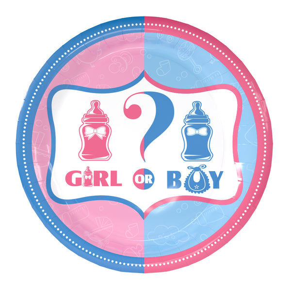 Paper plates gender reveal theme for sale online in Dubai