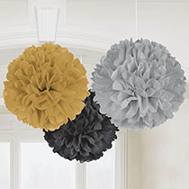 Elegant Hanging Decorations 3 pcs, 16inches - PartyMonster.ae