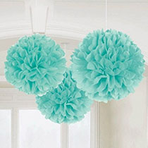 Blue Hanging Decorations 3 pcs, 16inches - PartyMonster.ae