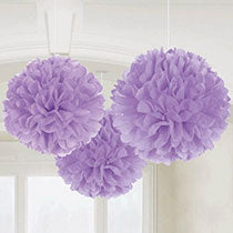 Lavender Hanging Decorations 3 pcs, 16inches - PartyMonster.ae