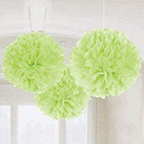 Light Green Fluffly Decorations, 3 pcs, 6 inches