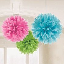 Multicolor Hanging Decorations 3 pcs, 16inches