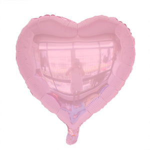 "Pink Color Heart Shape Balloon - 18"" - PartyMonster.ae"