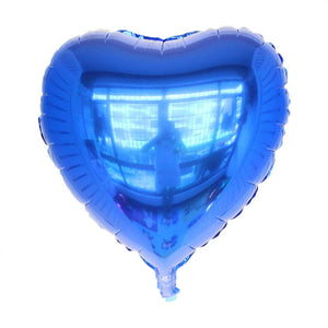 Blue Heart Shaped Foil Balloon
